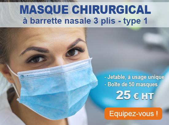 Masques chirurgicaux Covid-19